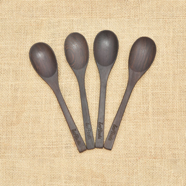 Tropical Wooden Spoon Forks