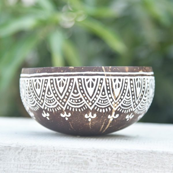 hand painted coconut bowls