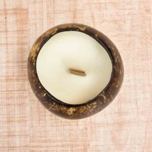 Ecobowls coconut shell candles