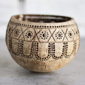 Coconut T Light Candle Holder for decoration and gifting